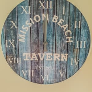 Mission Beach Tavern Clock